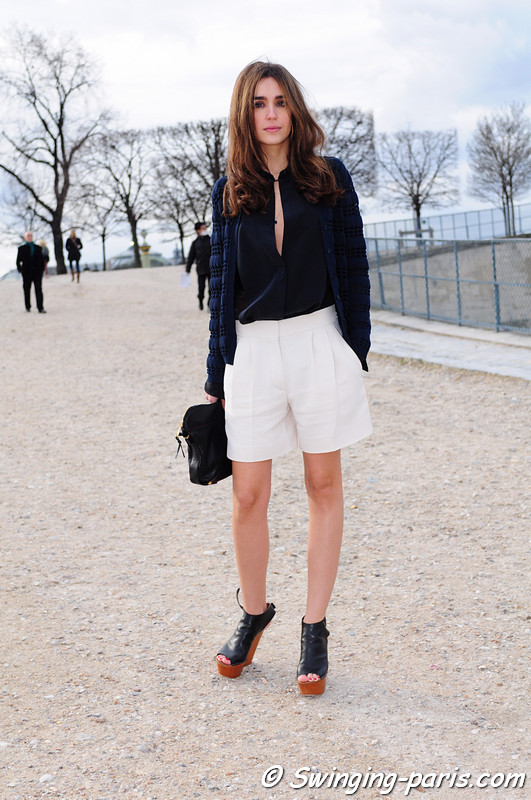 Victoria Olloqui leaving Chloé show, Paris F/W RtW 2012 Fashion Week, March 2012