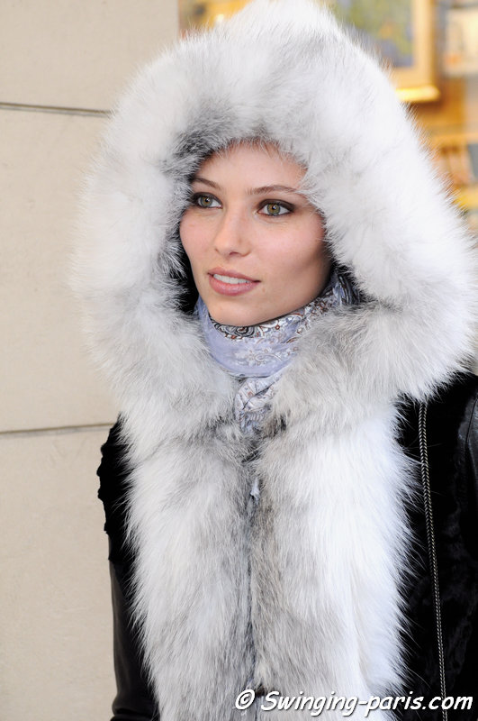 Vika Falileeva (Вика Фалилеева) outside Valentin Yudashkin show, Paris F/W 2014 RtW Fashion Week, March 2014