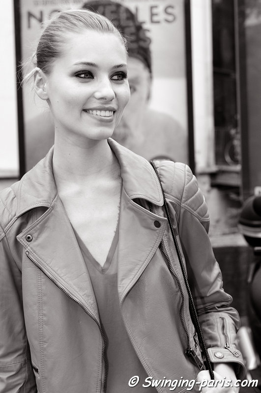 Vika Falileeva (Вика Фалилеева) outside Alexandre Vauthier show, Paris Haute Couture F/W 2013 Fashion Week, July 2013