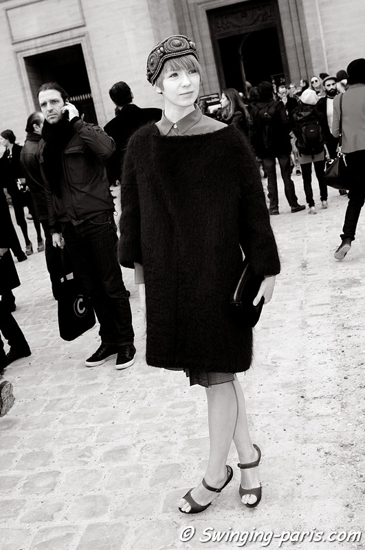 Vika Gazinskaya (Вика Газинская) after Louis Vuitton show, Paris Fashion Week, March 2011