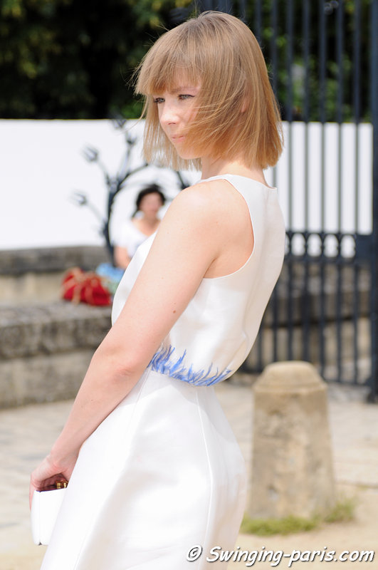 Vika Gazinskaya (Вика Газинская) after Christian Dior show, Paris Haute Couture F/W 2013 Fashion Week, July 2013