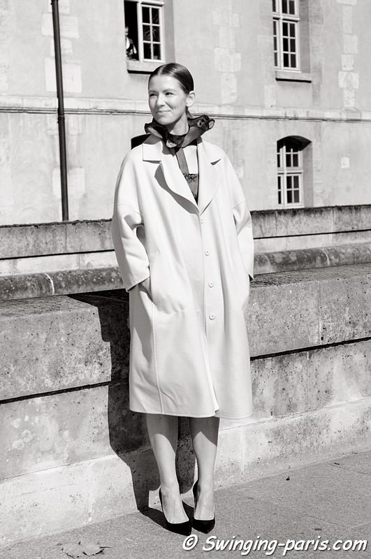 Vika Gazinskaya (Вика Газинская) before Christian Dior show, Paris S/S 2013 RtW Fashion Week, September 2012