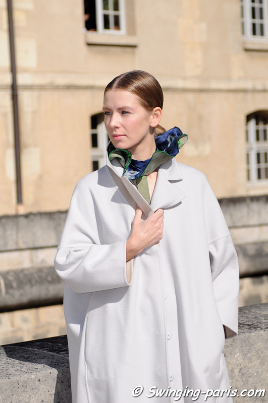 Vika Gazinskaya (Вика Газинская) before Christian Dior show, Paris S/S 2013 RtW Fashion Week, September 2012