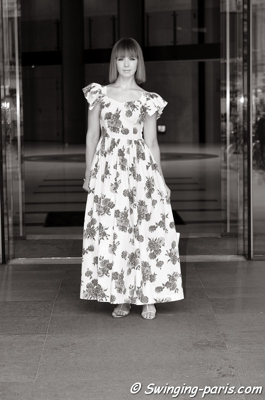Vika Gazinskaya (Вика Газинская) before Ulyana Sergeenko show, Paris Haute Couture F/W 2013 Fashion Week, July 2013