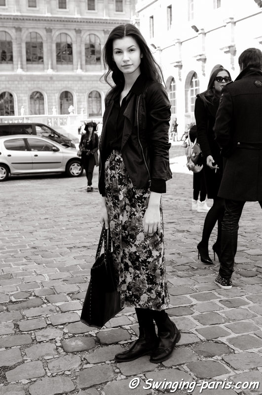 Vita Grishina (Вита Гришина) leaving Allude show, Paris F/W 2014 RtW Fashion Week, March 2014