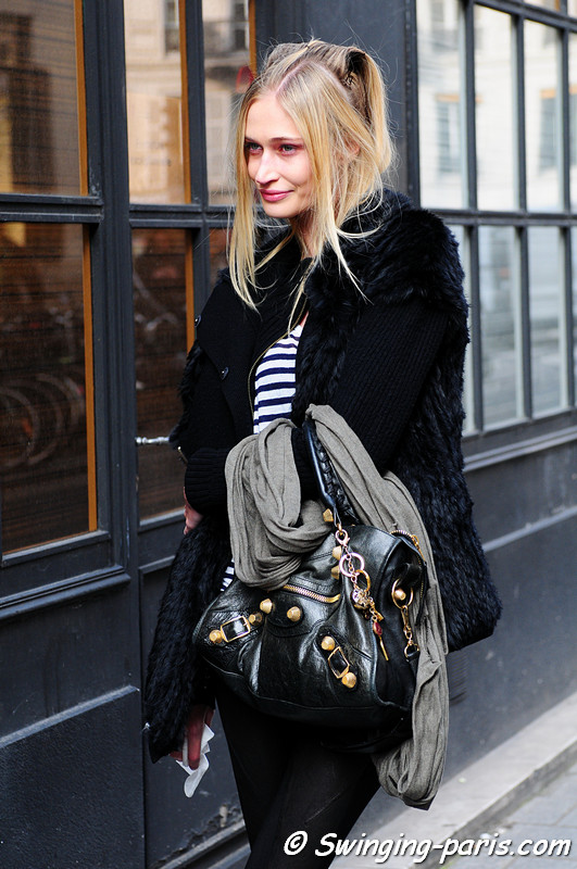 Viviane Orth after Moon Young Hee show, Paris Fashion Week, March 2011
