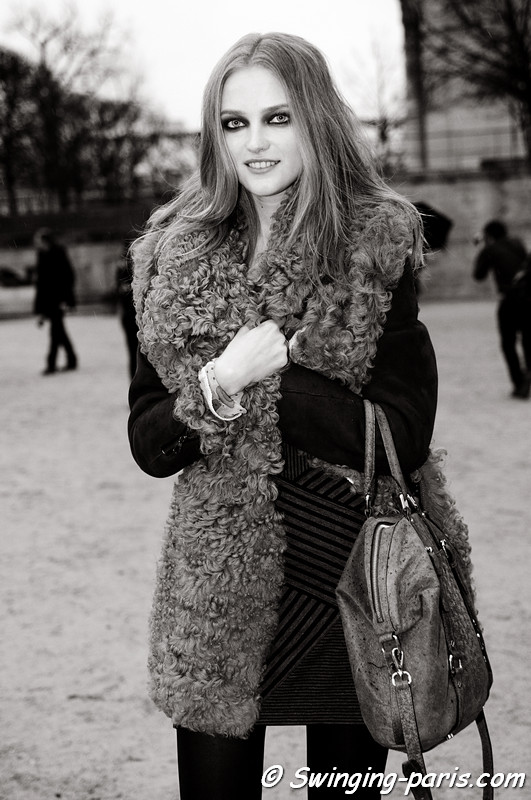 Vlada Roslyakova (Влада Рослякова) outside John Galliano show, Paris F/W RtW 2012 Fashion Week, March 2012