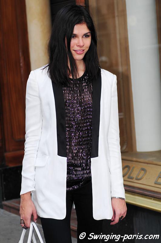 A young woman after Balmain show, Paris F/W RtW 2012 Fashion Week, March 2012