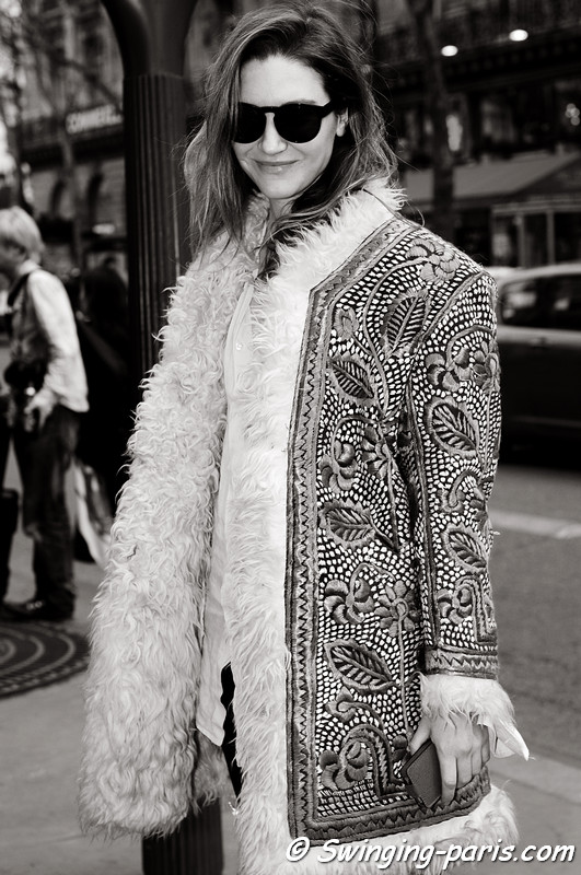 A young woman after Balmain show, Paris F/W RtW 2012 Fashion Week, March 2012