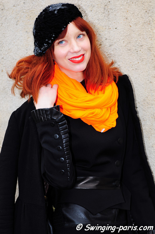 A young woman before Christian Dior show, Paris F/W RtW 2012 Fashion Week, March 2012