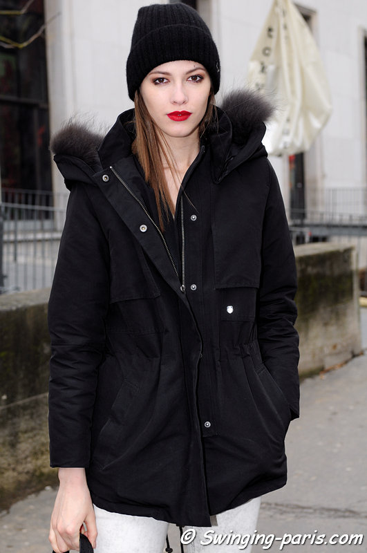 Yulia Kharlapanova (Юлия Харлапанова) leaving Alexis Mabille show, Paris F/W 2013 RtW Fashion Week, February 2013