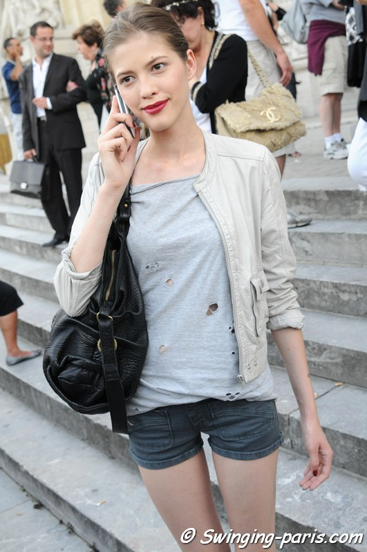 Yulia Kharlaponova after a Chanel show