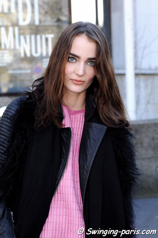 Zuzanna Bijoch leaving Zadig & Voltaire show, Paris F/W 2014 RtW Fashion Week, March 2014