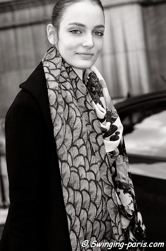 Zuzanna Bijoch after Stella McCartney show, Paris F/W RtW 2012 Fashion Week, March 2012