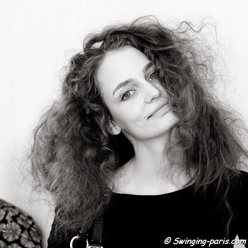 Zuzanna Bijoch exiting Christian Dior show, Paris Haute Couture F/W Fashion Week, July 2011