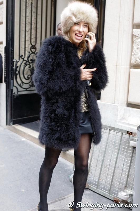 Alexandra Golovanoff - French TV journalist - Chanel Fashion show