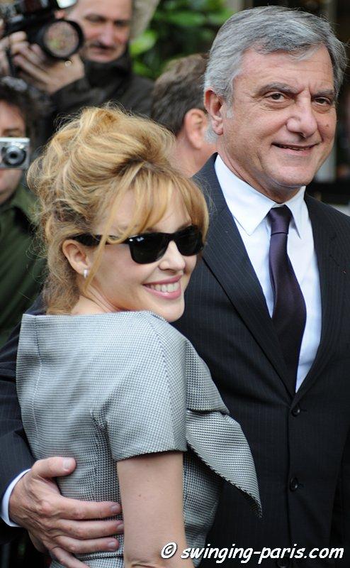 Kylie Minogue avant le défilé Dior, Paris