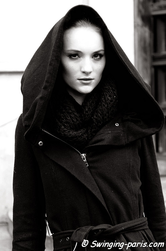 Model after Christophe Josse Show, Paris Fashion Week, January 2011