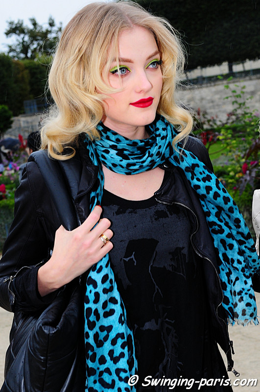 ... leopard pattern after Christian Dior show, Paris Fashion Week October