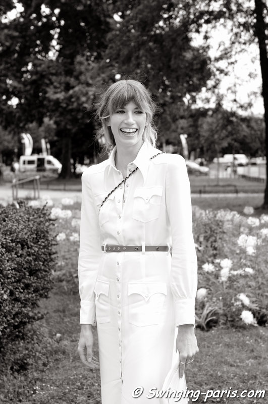 A young woman outside Chanel show, Paris Haute Couture F/W 2014 Fashion Week, July 2014