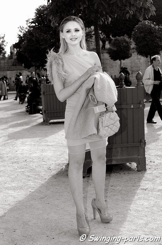 A young woman outside Chloé show, Paris S/S 2013 RtW Fashion Week, October 2012
