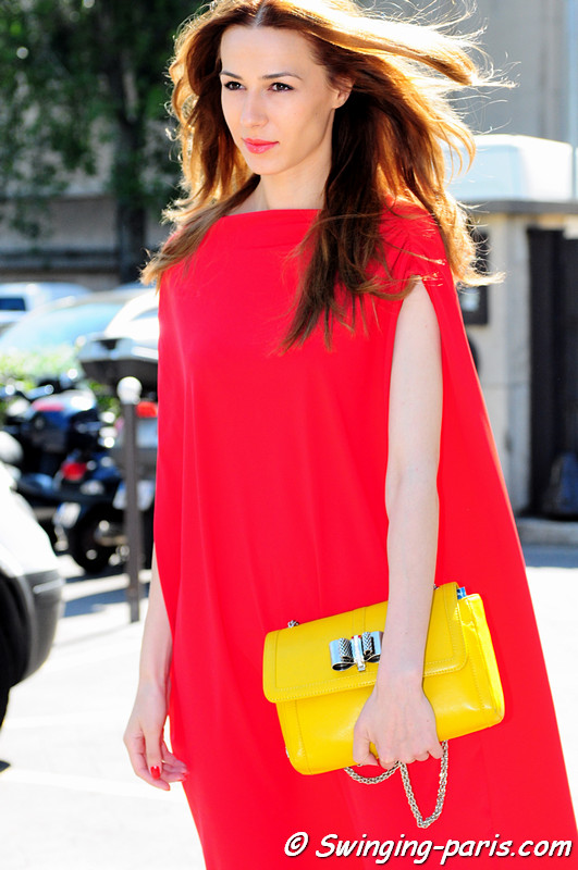 A young woman after Giorgio Armani Privé show, Paris Haute Couture F/W 2012 Fashion Week, July 2012