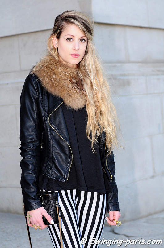 A young woman after Rochas show, Paris F/W RtW 2012 Fashion Week, February 2012