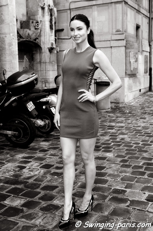 A young woman outside Zuhair Murad show, Paris Haute Couture F/W 2014 Fashion Week, July 2014