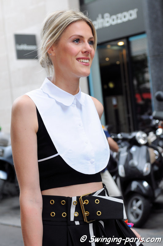 A young woman outside Elie Saab show, Paris S/S 2013 RtW Fashion Week, October 2012